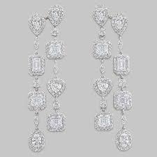 Cubic Zirconia Chandelier Earrings Grande Cz Halo Chandelier Drop Earrings Mystique Of Palm