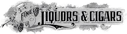Liquor Signs by Vintage Liquor Cigar Sign The Graphics Fairy