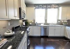 Grey And White Kitchen Curtains by Dark Gray Kitchen Walls With White Cabinets Centsational