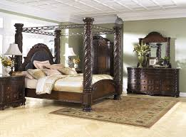 poster bed canopy north shore 8 pc bedroom dresser mirror cal king poster bed