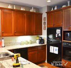 Kitchen With Brown Cabinets Why I Repainted My Chalk Painted Cabinets Sincerely Sara D