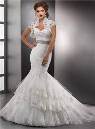 chapel wedding dresses trumpet mermaid sweetheart layered lace wedding dress with jacket