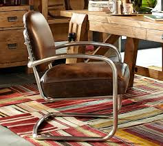 Leather Office Armchair Archer Desk Chair Pottery Barn