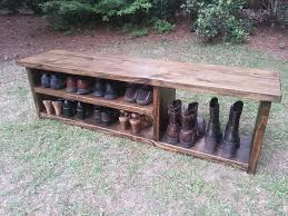rustic entryway bench boot with shoe rack and storage pictures