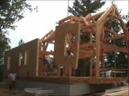 Sips Cabin Riverbend Timber Frame Raising Enclosing The Frame With Sips