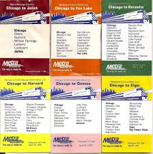 Chicago Metra Map by Cute Little Metra Schedules 1986 1996 They Still Give The U2026 Flickr