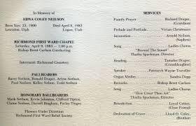 Paper For Funeral Programs Arizona U2013 Sagacity
