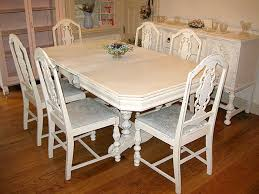 Antique Dining Room Chairs Mahogany Dining Room Sets For Good - Distressed white kitchen table