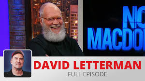 david letterman norm macdonald live youtube