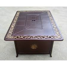 rectangle propane fire pit table oakland living haywood octagon gas fire pit table hayneedle
