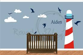 nautical theme lighthouse vinyl wall decal infant and children u0027s