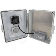 nema 4x enclosure fan altelix 14x11x5 vented polycarbonate abs weatherproof nema
