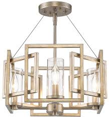 Flush To Ceiling Light Fixtures Golden Lighting 6068 Sf Wg Marco Modern White Gold Semi Flush