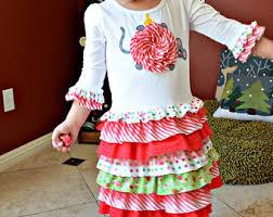 girls christmas dress pattern ruffles toddler t shirt dress