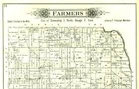 Illinois Map By County by 1895 Atlas Of Fulton County Illinois Farmers Township