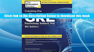 popular book cracking the gre psychology subject test 8th edition