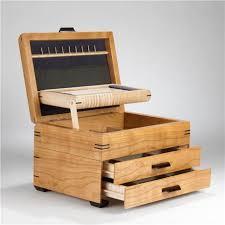 handmade wood handmade wood jewelry chest cherry and birdseye maple