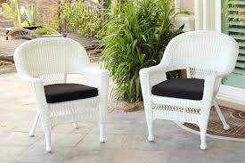White Resin Wicker Patio Furniture - resin white wicker rocker