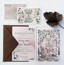 Wedding Invitations Cards Uk Hazy Woodland Wedding Invitations And Rsvps By Hollyhock Lane