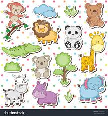 safari guide clipart happy wild animals clip art stock vector 122722546 shutterstock