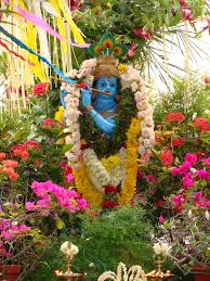 How To Decorate Janmashtami At Home by Flower Decoration At Home For Janmashtami 2017