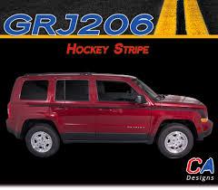 silver jeep patriot 2007 2007 2015 jeep patriot hockey vinyl stripe kit moproauto vinyl