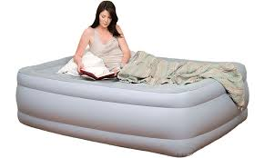 pure comfort full size air mattress and pump raised full air bed