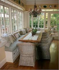 Sunroom Dining Room Ideas Readers Kitchen Series 5 Bench Seat Bench And Window