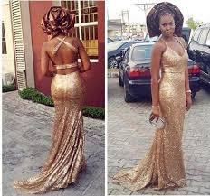 robe pour mariage invitã e robe de soirée 2016 sirène or paillettes nigeria aso ebi styles