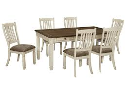 Dining Room Table And Chair Sets by Signature Design By Ashley Bolanburg Relaxed Vintage 7 Piece Table