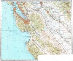 San Jose Map by Download Topographic Map In Area Of San Francisco Oakland San