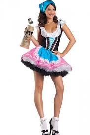 Carrie Halloween Costume Blue Pink Carrie Beer Costume Maid Costume