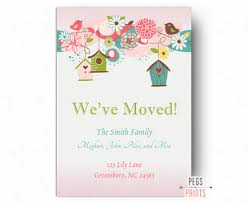 printable moving announcement moving cards weve moved cards
