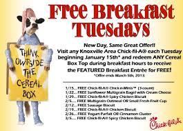 fil a free breakfast tuesdays reminder free sausage biscuit