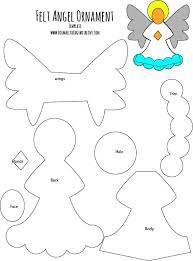 image result for felt templates ornaments anioły