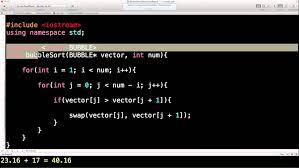 tutorial vector c component bubblesort flowchart bubble sort programming program