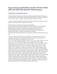repair manual pdf honda pacific coast pc800 1992 1993 1994 1995 1996 u2026