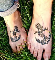 20 cute matching anchor tattoos for couples entertainmentmesh