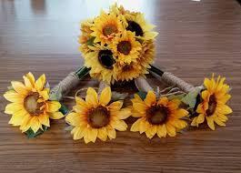 sunflower wedding bouquet wedding ideas sunflower wedding bouquet with blue sunflower