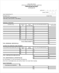 program budget template 9 award certificates free sample