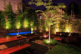 Pool Landscape Lighting Ideas Modern Garden Lighting Ideas For Japanese Theme With Small
