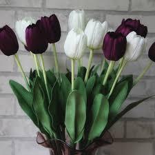 artificial flower home decor online shop 2017 tulip artificial flower cheap bouquet flowers