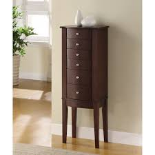 Armoire Chest Of Drawers Contemporary Jewelry Armoire Hayneedle