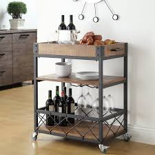 mercury row zona kitchen cart with wooden top u0026 reviews wayfair