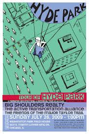 Chicago Neighborhood Map Poster by Hyde Park 2009 Poster Chicago Velo