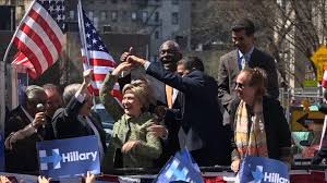Spin Flag Hillary Clinton Dances On Stage With Ny Officials Cnn Video