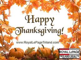 royal lepage triland realty happy thanksgiving post