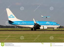 klm royal dutch airlines boeing 737 7k2 editorial stock photo