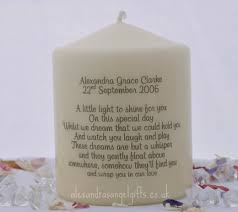 Infant Loss Gifts Medium Personalised Memorial Candle This Size Available As A