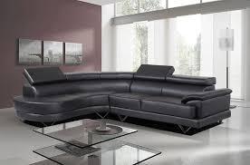 Contemporary Black Leather Sofa Furniture Cosmo Contemporary Black Leather Corner Sofa With Glass